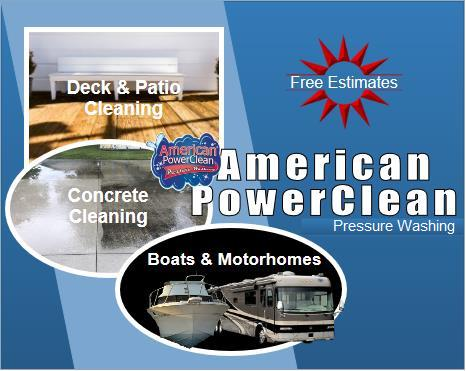 American PowerClean | Power clean | Pressure Washing | Residential | Home | House | Toledo | Perrysburg | Rossford | Bowling Green | Oregon | Ohio | Ottawa Hills | Sylvania | Concrete | Deck | Gutters
